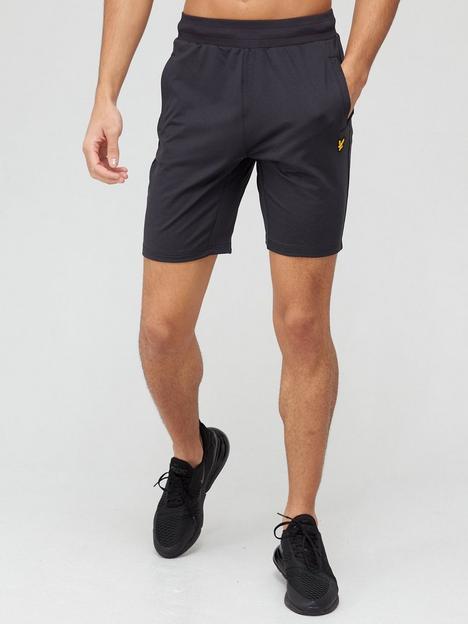 lyle-scott-fitness-superwick-shorts-black