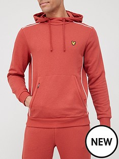 lyle-scott-fitness-hoodie-with-contrast-piping-orange