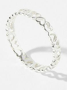 accessorize-sterling-heart-band-ring-silver