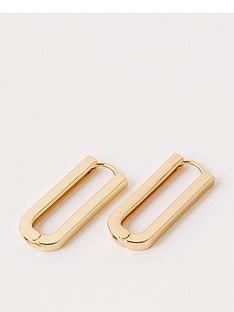 accessorize-basic-chunky-rectangular-link-earrings-gold