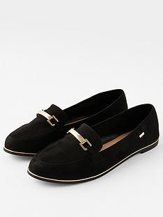 accessorize-metal-bar-detail-loafer-black