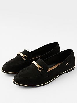 accessorize-metal-bar-detail-loafer-black