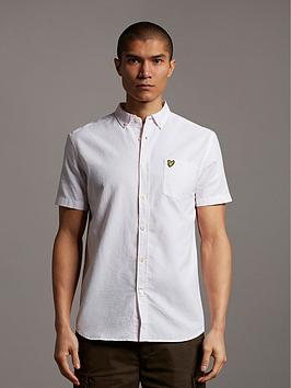 lyle-scott-short-sleeve-oxford-shirt-pink