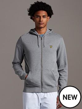 lyle-scott-zip-through-hoodie-grey-marl