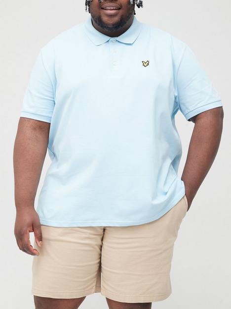 lyle-scott-plain-polo-shirt-bluenbsp