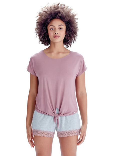 pretty-polly-tie-front-t-shirt-pink