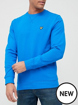 lyle-scott-crew-neck-sweat-cobalt