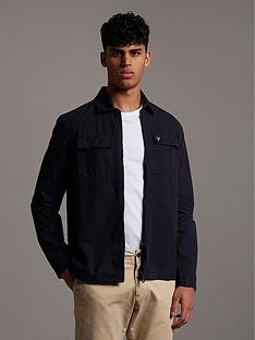 lyle-scott-cotton-overshirt-with-pocket-detail-navy