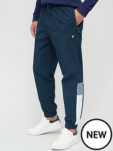lyle-scott-gingham-trouser-dark-navy