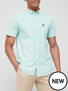 lyle-scott-short-sleeve-oxford-shirt-mint