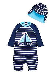 mini-v-by-very-ahoy-there-sunsafe-and-hat-set-navy