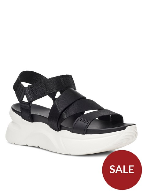 ugg-la-shores-wedge-sandal-black