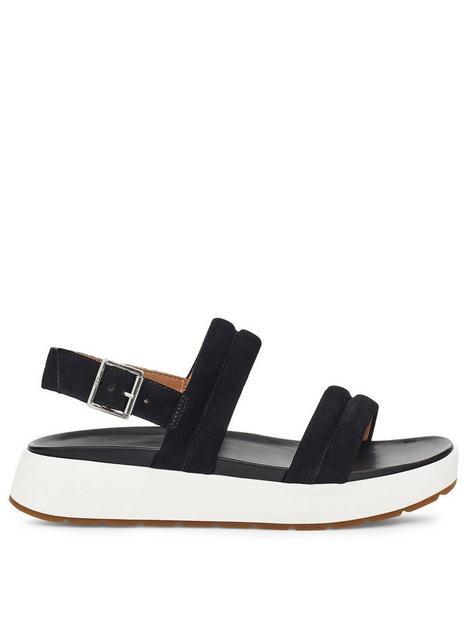 ugg-lynnden-flat-sandals-black