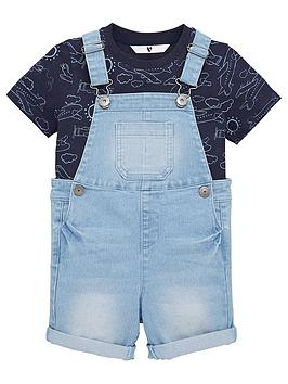 mini-v-by-very-2-piecenbspdenim-shortie-dungarees-and-short-sleevenbspt-shirt-set-blue