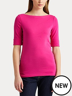 lauren-by-ralph-lauren-cottonnbspblend-boatneck-top-pink