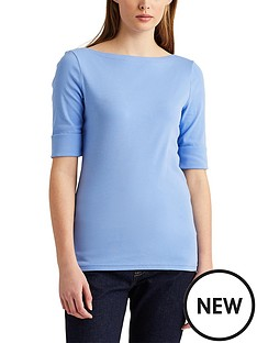 lauren-by-ralph-lauren-cottonnbspblend-boatneck-top-blue