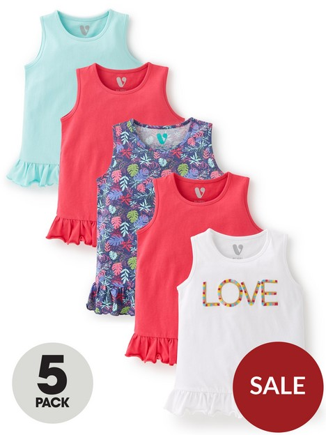 mini-v-by-very-girlsnbsp5-pack-hibiscus-vests-multi