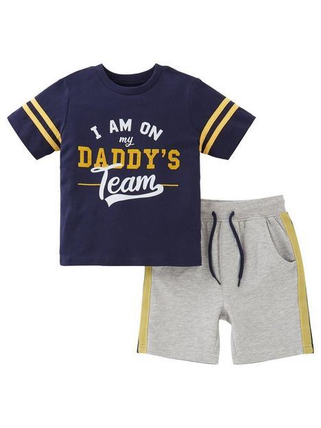 mini-v-by-very-boys-fathers-daynbspdaddys-team-tee-amp-jog-short-set-multi
