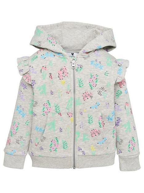 mini-v-by-very-girlsnbspfloral-hoodie-grey-marl
