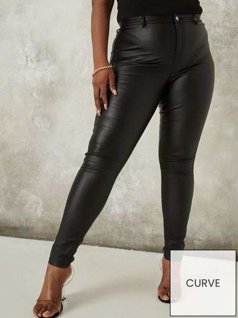 missguided-plus-missguided-plus-vice-coated-skinny-jeans-with-belt-loops-black