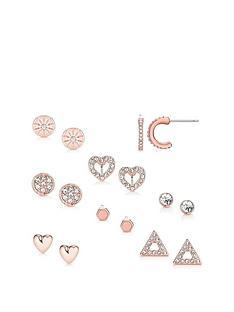 buckley-london-buckley-london-rose-gold-8-pack-stud-earrings