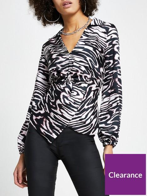 river-island-long-sleeve-tina-twist-shirt-multi