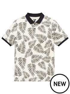 v-by-very-boys-mini-me-leaf-print-single-short-sleevenbsppolo-shirt-multi