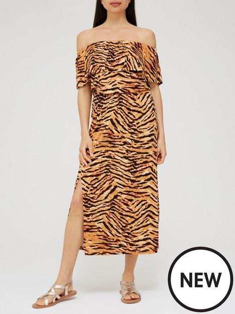 v-by-very-frill-bardot-midi-dress-animal