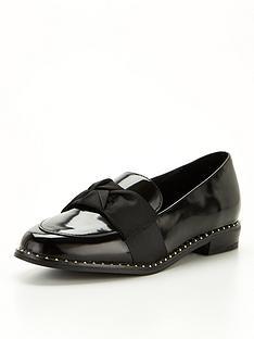 river-island-girls-bow-studded-loafer--nbspblack