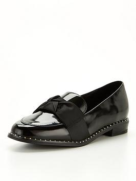 river-island-girls-bow-studded-loafer--nbspblack