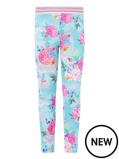 monsoon-girls-floral-print-leggings-turquoise