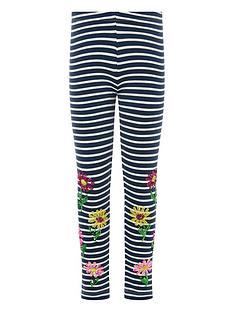 monsoon-girls-sequin-stripe-flower-leggings-navy