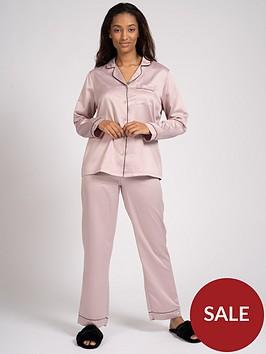 loungeable-traditional-satin-shirt-pyjama-set-minknbspamp-black