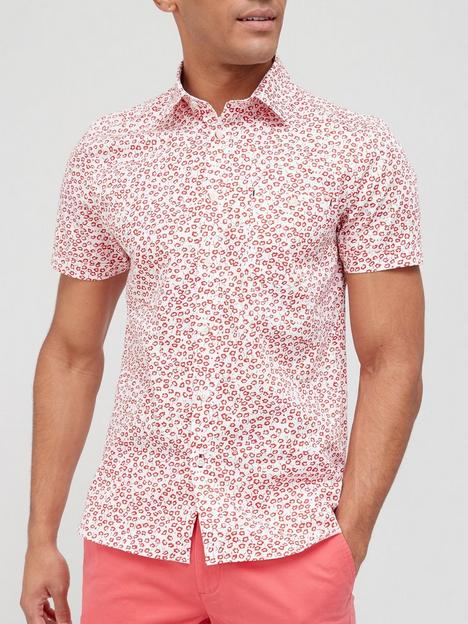ted-baker-parslee-floral-print-short-sleeve-shirt-red
