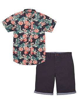 v-by-very-boys-2-piece-hibiscus-shirt-and-chinos-set-multi