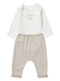 mamas-papas-unisex-baby-2-piecenbspbodysuit-amp-legging-set-sand