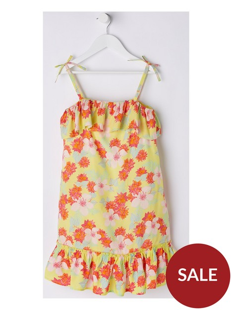 v-by-very-girls-off-shoulder-floral-dress-yellow
