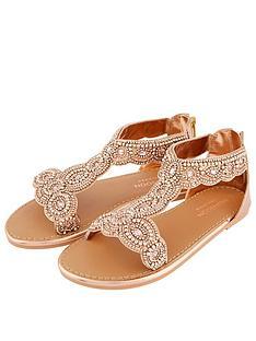 monsoon-girls-beaded-sandal-rose-gold