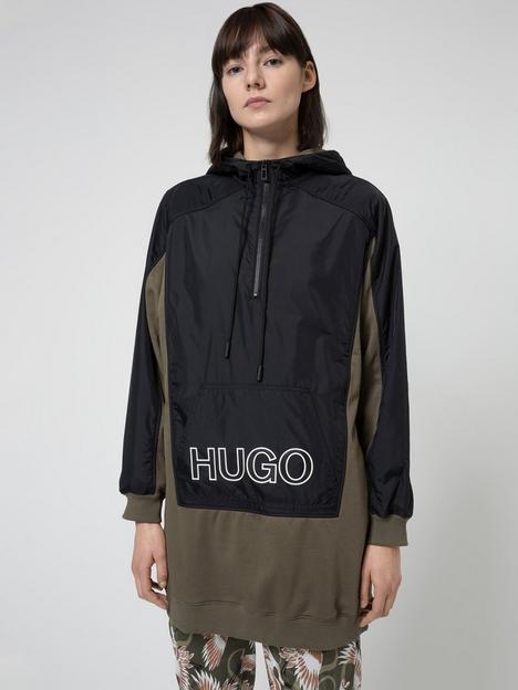 hugo-dalarisa-colour-block-lightweight-parka-black