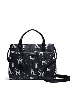 radley-maple-cross-fun-pups-medium-zip-top-multiway-tote-bag-black