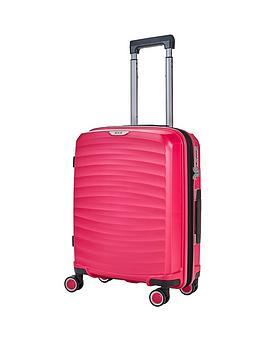 rock-luggage-sunwave-carry-on-8-wheel-suitcase-pink