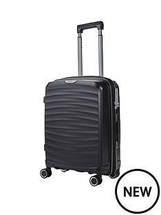 rock-luggage-sunwave-carry-on-8-wheel-suitcase-black
