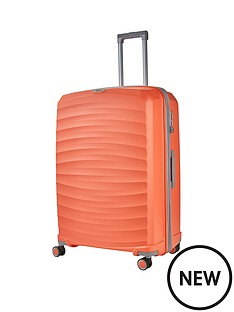 rock-luggage-sunwave-large-8-wheel-suitcase-peach