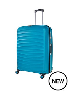 rock-luggage-sunwave-large-8-wheel-suitcase-blue