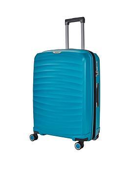 rock-luggage-sunwave-medium-8-wheel-suitcase-blue