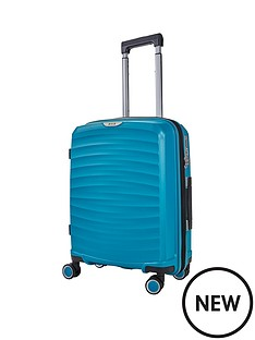 rock-luggage-sunwave-carry-on-8-wheel-suitcase-blue