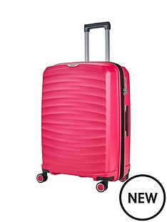 rock-luggage-sunwave-medium-8-wheel-suitcase-pink