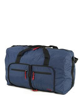 rock-luggage-small-foldaway-holdall-navy