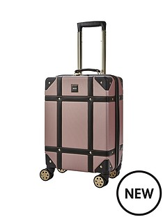 rock-luggage-vintage-carry-on-8-wheel-suitcase-rose-pink