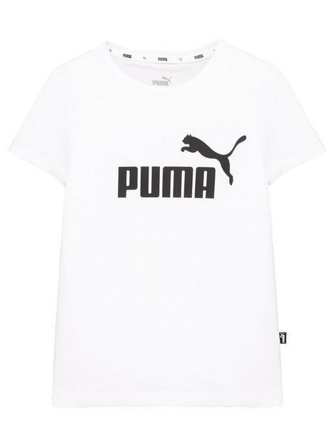 puma-girls-essential-logo-short-sleeve-t-shirt-white